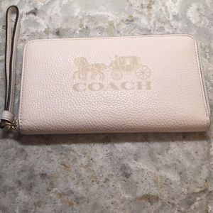 Large Jes Coach Leather Wallet NWT